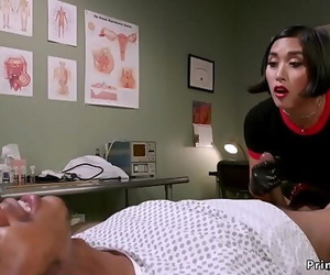 Asian dom doctor strokes..