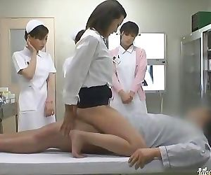 Wild Asian nurses take turns..