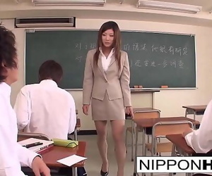 Japanese teacher blows a..
