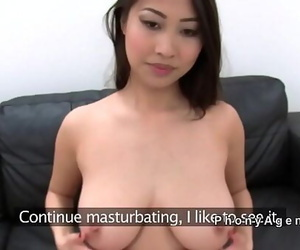 Busty Asian stunner smallish..