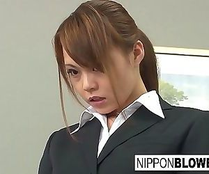 Splendid Asian office lady..